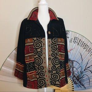 🌈 Vintage Quilted Patchwork Jacket 🌈